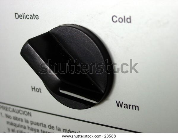 Washing machine set on Warm