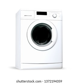 Washing machine white isolated
