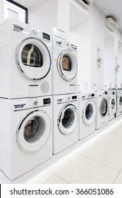 washing mashines in appliance store