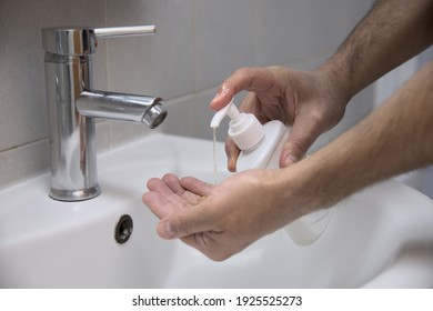 Washing your hands with soap as a preventive measure for covid-19.