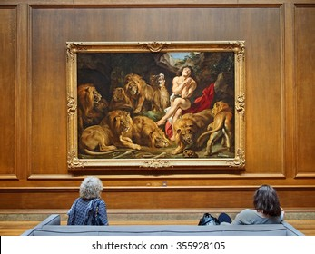 WASHINGTON - 2014:  The National Gallery has a fine collection of old masters, including Daniel in the Lion's Den by Rubens, as seen in Washington in 2014.