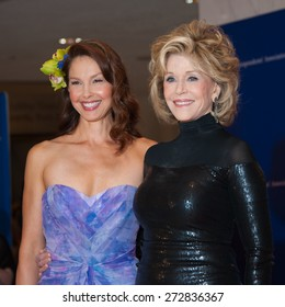 WASHINGTON APRIL 25 - Ashley Judd and Jane Fonda pose together at the White House Correspondents' Association Dinner April 25, 2015 in Washington, DC