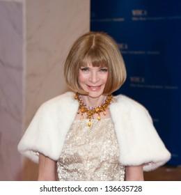 WASHINGTON - April 27:  Anna Wintour arrives at the White House Correspondents Dinner April 27, 2013 in Washington, DC