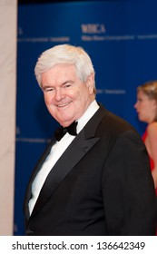 WASHINGTON - April 27:  Newt Gingrich arrives at the White House Correspondents Dinner on April 27, 2013 in Washington, DC