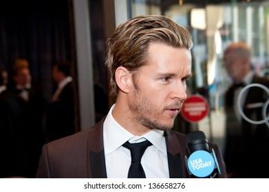 WASHINGTON - April 27:  Ryan Kwanten is interviewed at the White House Correspondents Dinner on April 27, 2013 in Washington, DC