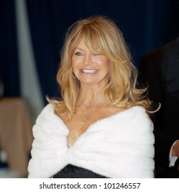 WASHINGTON - APRIL 28: Goldie Hawn arrives at the White House Correspondents Dinner April 28, 2012 in Washington, D.C.