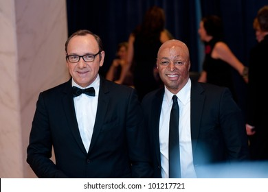 WASHINGTON - APRIL 28: Kevin Spacey and J.R. Martinez at the White House Correspondents Dinner April 28, 2012 in Washington, D.C.