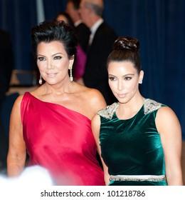 WASHINGTON � APRIL 28: Kim Kardashian and Kris Jenner arrive at the White House Correspondents� Dinner April 28, 2012 in Washington, D.C.