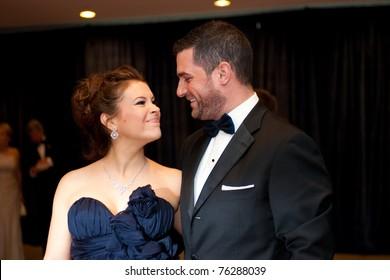 WASHINGTON - APRIL 30: A pregnant Alyssa Milano and husband David Bugliari arrive at the White House Correspondents Dinner April 30, 2011 in Washington, D.C.