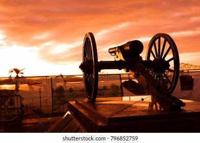 Washington Artillery Park at Dawn, New Orleans, Louisiana