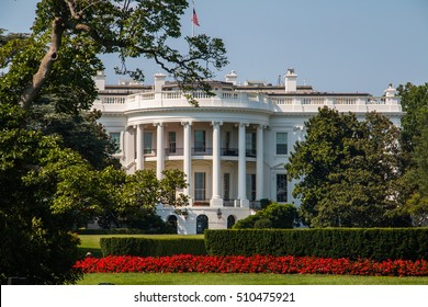 WASHINGTON - AUG 14, 2015: The White House during a sunny day