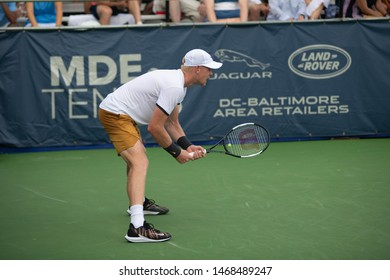 WASHINGTON – AUGUST 1: Kyle Edmund (GBR) defeats Jo-Wilfried Tsonga (FRA, not pictured) at the Citi Open tennis tournament on August 1, 2019 in Washington DC