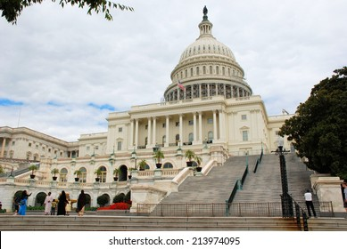 WASHINGTON - AUGUST 24, 2014: The United States Capitol which is located on the eastern side of the National Mall and is the seat of the US Congress.