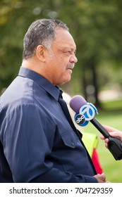 WASHINGTON AUGUST 28: Rev. Jesse Jackson at the Ministers March for Justice in Washington DC on August 28, 2017.