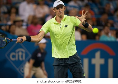WASHINGTON – AUGUST 3: Kevin Anderson (RSA) defeats Dominic Thiem (AUT, not pictured) at the Citi Open tennis tournament on August 3, 2017 in Washington DC