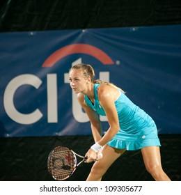 WASHINGTON - AUGUST 3: Magdalena Rybarikova (SVK) defeats Sloane Stephens (USA, not pictured) at the Citi Open semifinals on August 3, 2012 in Washington.