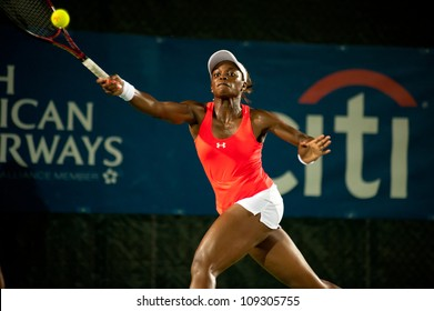 WASHINGTON - AUGUST 3: Sloane Stephens (USA) falls to Magdalena Rybarikova (SVK, not pictured) at the Citi Open semifinals on August 3, 2012 in Washington.