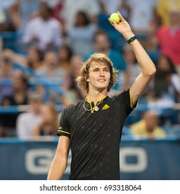 WASHINGTON – AUGUST 4: Alexander Zverev (GER) after his win over Daniil Medvedev (RUS, not pictured)  at the Citi Open tennis tournament on August 4, 2017 in Washington DC