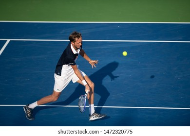 WASHINGTON – AUGUST 4: Daniil Medvedev (RUS) falls to  Nick Kyrgios (AUS, not pictured) in the finals of the Citi Open tennis tournament on August 4, 2019 in Washington DC