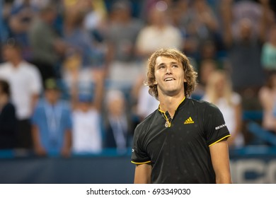 WASHINGTON – AUGUST 5: Alexander Zverev (GER) after his win over Kei Nishikori (JPN, not pictured)  at the Citi Open tennis tournament on August 5, 2017 in Washington DC