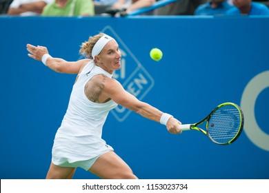 WASHINGTON – AUGUST 5: Svetlana Kuznetsova (RUS) defeats Donna Vekic (CRO) in the finals of the Citi Open tennis tournament on August 5, 2018 in Washington DC
