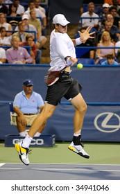 WASHINGTON - AUGUST 7: John Isner (USA) ready to hit the ball at the Legg Mason Tennis Classic on August 7, 2009 in Washington. Isner defeated Tomas Berdych (CZE).