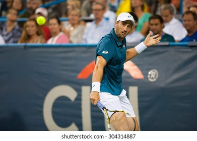 WASHINGTON - AUGUST 7: Steve Johnson (USA) defeats Jack Sock (USA, not pictured) at the Citi Open tennis tournament on August 7, 2015 in Washington DC