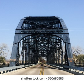 The Washington Avenue Bridge across the Brazos River in Waco Texas
