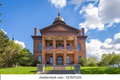 Washington County historic courthouse in Stillwater, Minnesota, USA.