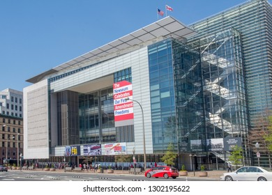 Washington DC 04 11 2017. The Newseum, 555 Pennsylvania Ave NW, has been sold to Johns Hopkins University.