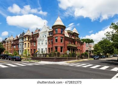 Washington D.C. - 17 June, 2017: The Washington D.C. neighborhood of Bloomingdale on a summer day.