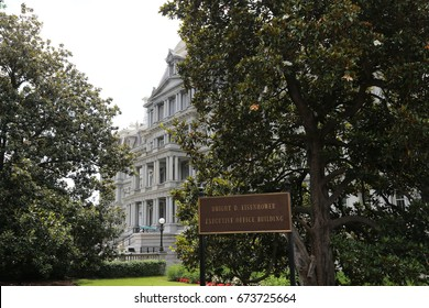 WASHINGTON, DC - 18 JUN: Dwight D. Eisenhower Executive Office Building in Washington, DC, the United States on 18 June 2017