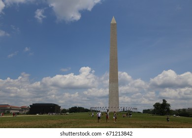 WASHINGTON, DC - 18 JUN: Washington Monument in Washington, DC, the United States on 18 June 2017