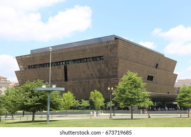 WASHINGTON, DC - 18 JUN: National Museum of African American History and Culture in Washington, DC, the United States on 18 June 2017