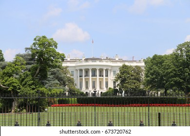 WASHINGTON, DC - 18 JUN: White House in Washington, DC, the United States on 18 June 2017