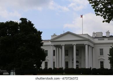 WASHINGTON, DC - 18 JUN: White House in Washington, DC, the United States on 18 June 2017