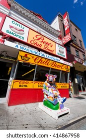 Washington DC. 18 March, 2016. Ben's Chili Bowl, a classic Washington restaurant located in the Shaw neighborhood of the city. Originally opening in 1958, Ben's is renowned for its chili.