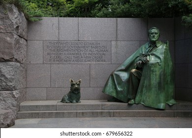 WASHINGTON, DC - 19 JUN: Franklin Delano Roosevelt Memorial in Washington, DC, the United States on 19 June 2017