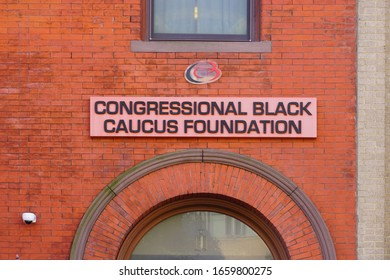 WASHINGTON, DC -21 FEB 2020- View of the headquarters building of the Congressional Black Caucus Foundation located near Dupont Circle in Washington DC.