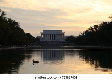 WASHINGTON, DC - 22 JUN: Lincoln Memorial in Washington, DC, the United States on 22 June 2017