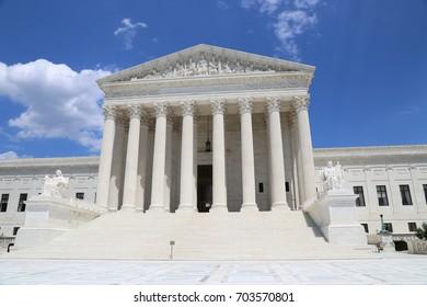 WASHINGTON, DC - 22 JUN: Supreme Court of the United States in Washington, DC, the United States on 22 June 2017
