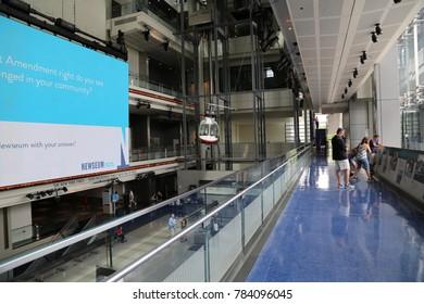 WASHINGTON, DC - 23 JUN: Newseum in Washington, DC, the United States on 23 June 2017