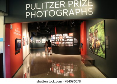 WASHINGTON, DC - 23 JUN: Newseum in Washington, DC, the United States on 23 June 2017