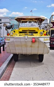 WASHINGTON DC -25 MAY 2015- A DC Ducks duck tour amphibious vehicle in Washington DC.