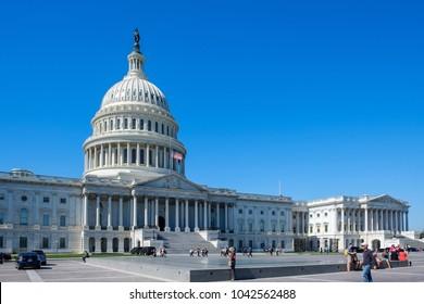 Washington D.C, 3 October 2017 - United States Capitol Building - Washington DC USA