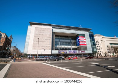 WASHINGTON, DC - 4 MARCH : Exterior of Newseum in Washington, DC, the United States on 4 March, 2018