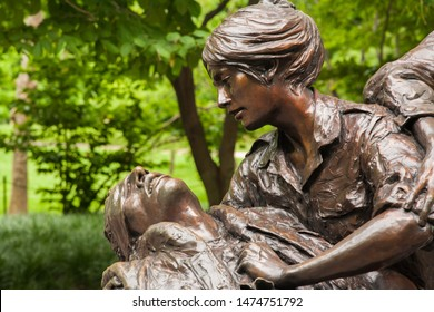 Washington DC, 6/28/2009: The Vietnam Women's Memorial.  It is a memorial dedicated to the women of the United States who served in the Vietnam War, most of whom were nurses