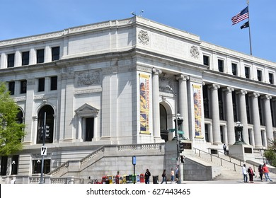 WASHINGTON, DC - APR 15: Smithsonian National Postal Museum in Washington, DC, seen on April 15, 2017. It was established through joint agreement between US Postal Service and Smithsonian Institution.
