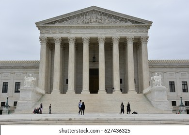 WASHINGTON, DC - APR 15: Supreme Court in Washington, DC, as seen on April 15, 2017. It is the highest federal court of the United States.