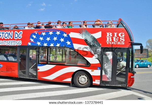 Washington Dc Tour Bus >> Washington Dc April 13 Hoponhop Off Stock Photo Edit Now